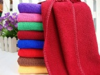 Colorful microfiber car cleaning towel