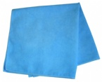 Light blue microfiber car cleaning towel
