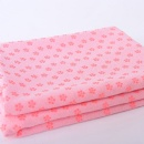 Pink yoga towel without silicon dot