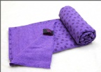 Purple yoga towel without silicon dot