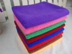 Durable different color bath towel
