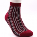 Red middle size special pattern comfortable cotton socks