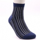 Blue middle size special pattern comfortable cotton socks
