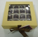 Yellow Chocolate Box with Black Ribbon