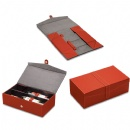 Red Foldable Leather Wine Box